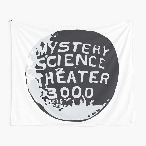 MST3K Silhouette within Globe Tapestry