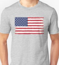 American flag Grunge Classic Unisex T-Shirt