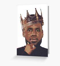 King Lebron James Greeting Card