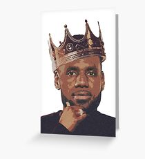 King Lebron James Greeting Card