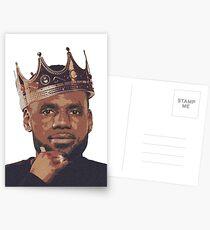König Lebron James Postkarten