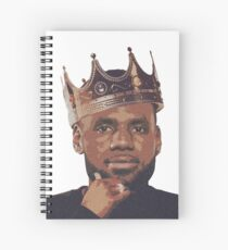 King Lebron James Spiral Notebook