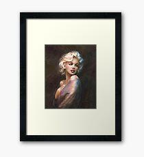 Marilyn WW Romantic Soft Gerahmtes Wandbild