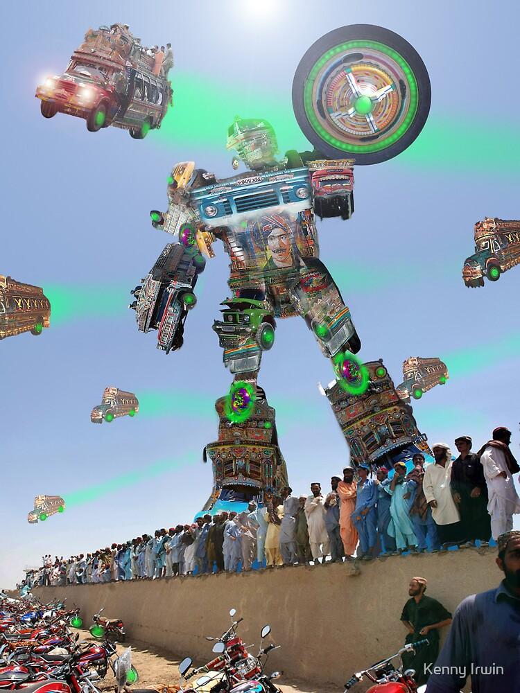 Interstellar Bedford Bus Fleet and Karachi Kickbot Air& Space Show by Kenny Irwin