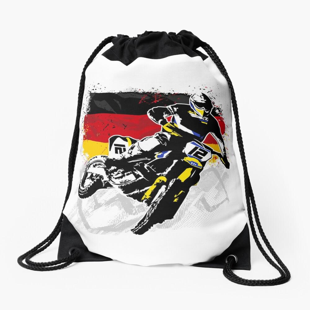 Moto Cross Racing Drawstring Bag