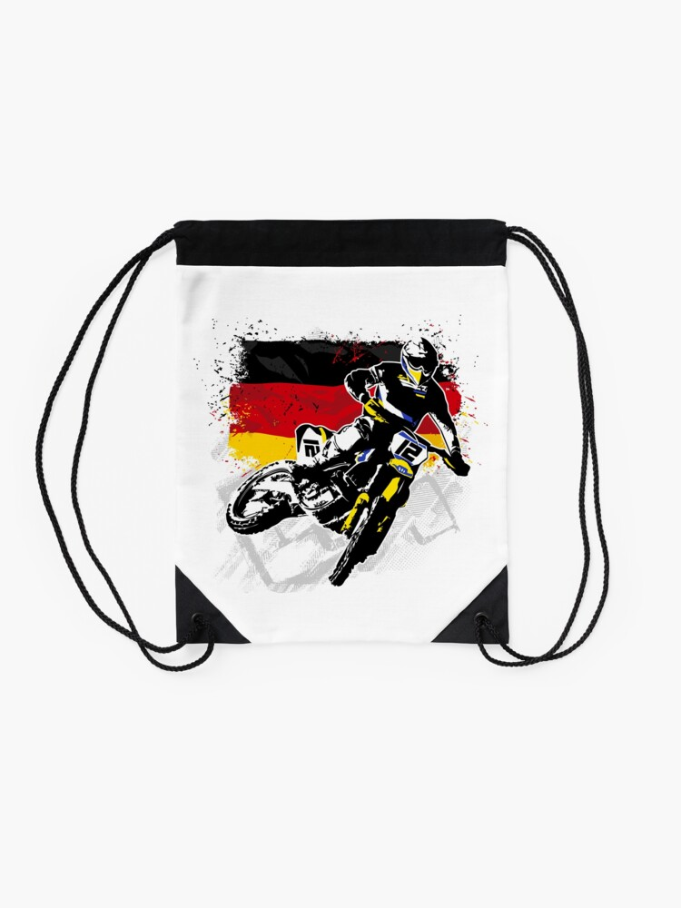 Alternate view of Moto Cross Racing Drawstring Bag