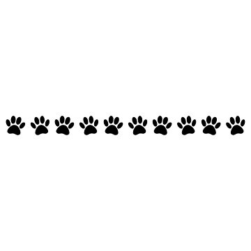 Dog Paw Print Stripe by Braznyc