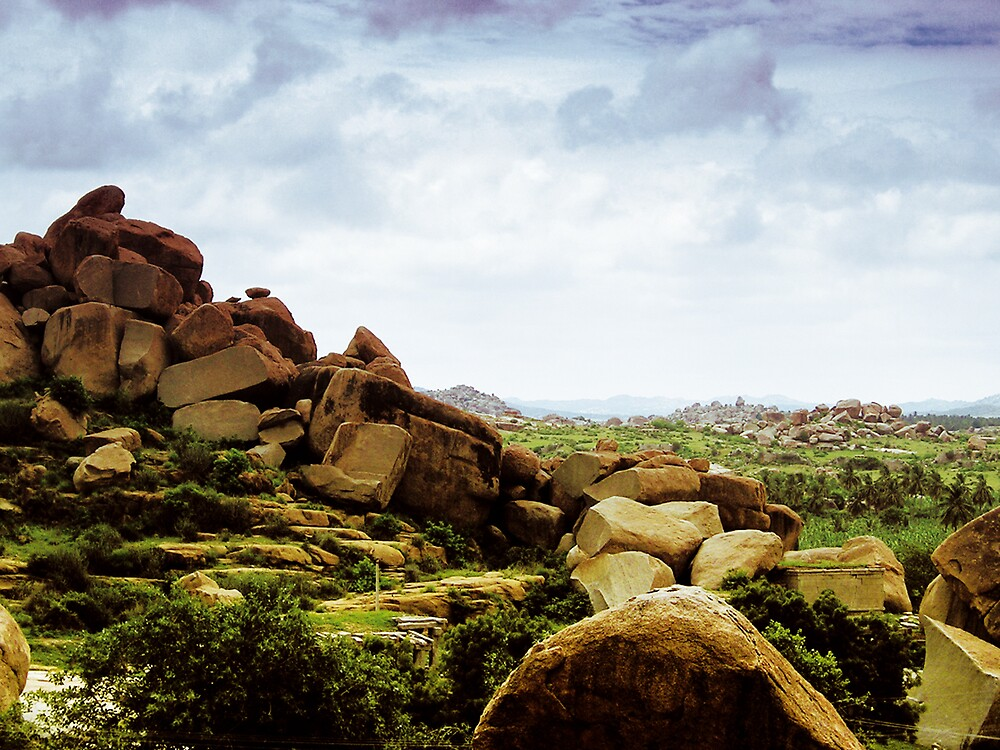 hampi rocks by neil davis