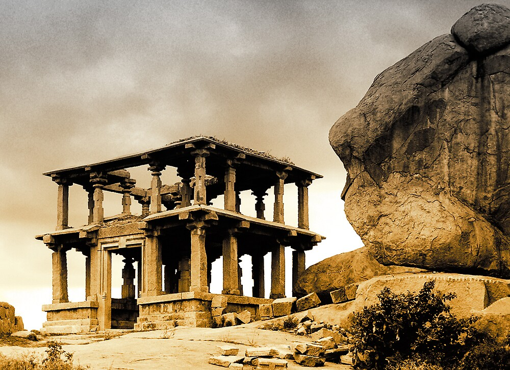 hampi temple pillars by neil davis