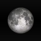 Full Moon on a black background by Colin Cramm