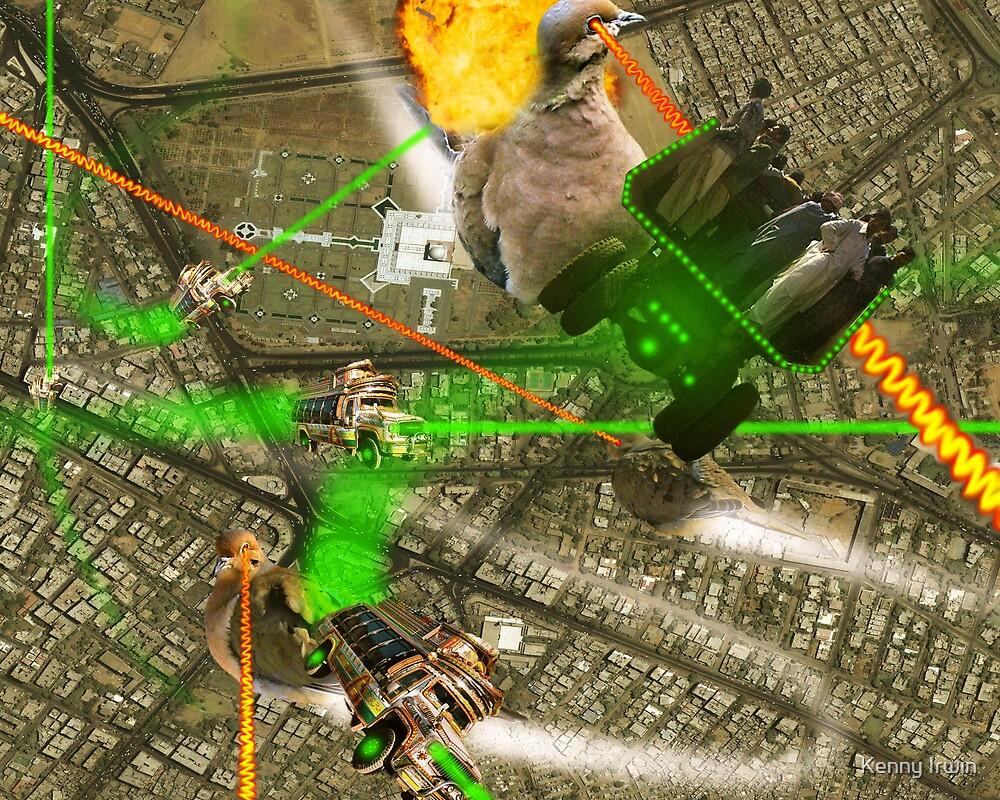 ntergalactic dOve Invader battle over Karachi Megatropolis by Kenny Irwin