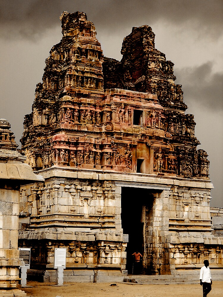 hampi pink gopuram by neil davis