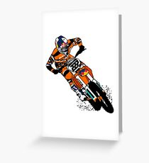 Moto Cross Racing Greeting Card