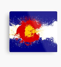 Colorado Flag Paint Splatter Metal Print