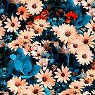 Colourful Daisies Pattern  by ZedEx