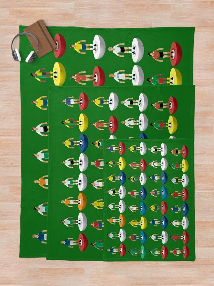 Alternate view of World Subbuteo players Throw Blanket