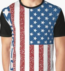 American Freedom Flag Graphic T-Shirt