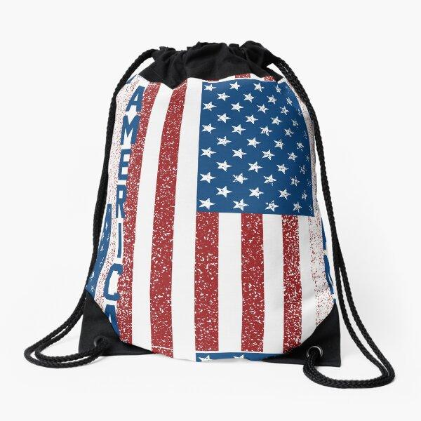 American Freedom Flag Drawstring Bag