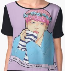 Jimin Protection Squad Women's Chiffon Top