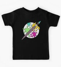 Colourful Paint Splatter Pattern Kids Tee