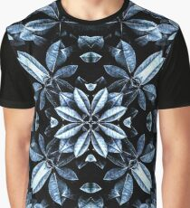 Metallic Leaves Mandala Graphic T-Shirt