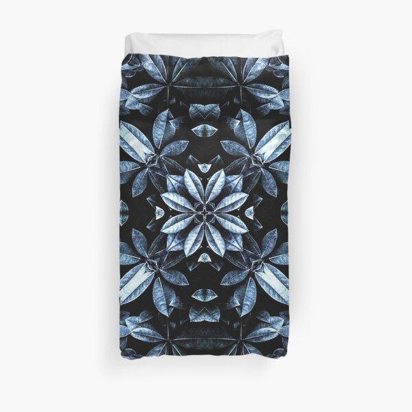 Metallic Leaves Mandala Duvet Cover