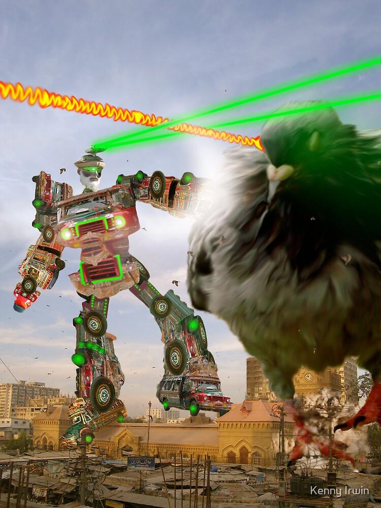 Karachi Empress Market Giant Robot Showdown by Kenny Irwin
