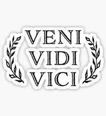 Veni Vidi Vici Caesar Victory Sticker