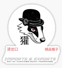 Badger's Imports And Exports : Inspired by Firefly Sticker