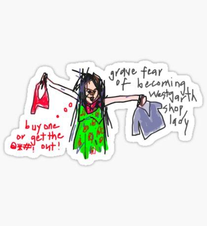 'Westgarth Shop Lady Wrath' Sticker