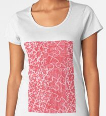 Life Is A Puzzle RED Women's Premium T-Shirt