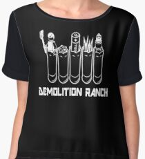 demolition ranch shirt Women's Chiffon Top