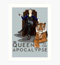 Queen of the apocalylse Art Print