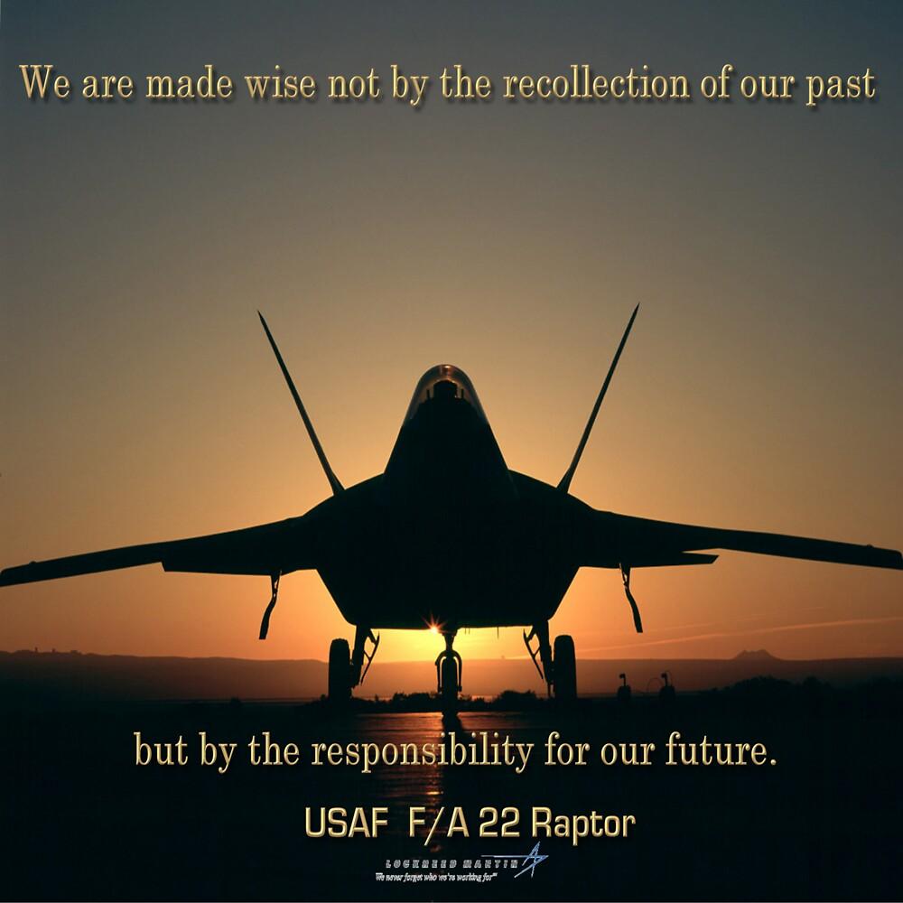 F/A 22 Raptor by Howard Lorenz