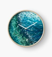 Crashing Ocean Waves Margaret Juul Clock