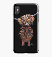 Scottish Hairy Highland Cow ' WEE MAC ' by Shirley Macarthur iPhone Case/Skin
