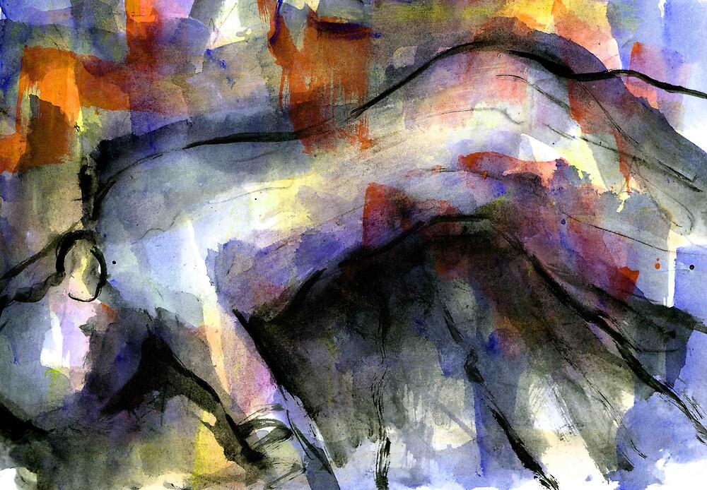 Blue Figure by cliffwarner