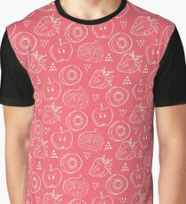 Fruit Cut in Half Pattern Graphic T-Shirt