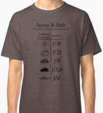 Sunny 16 Rule - Black Classic T-Shirt