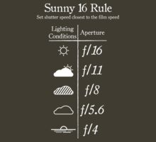 TShirtGifter Presents: Sunny 16 Rule - White