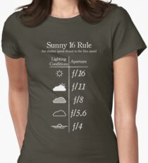 Sunny 16 Rule - White Women's Fitted T-Shirt