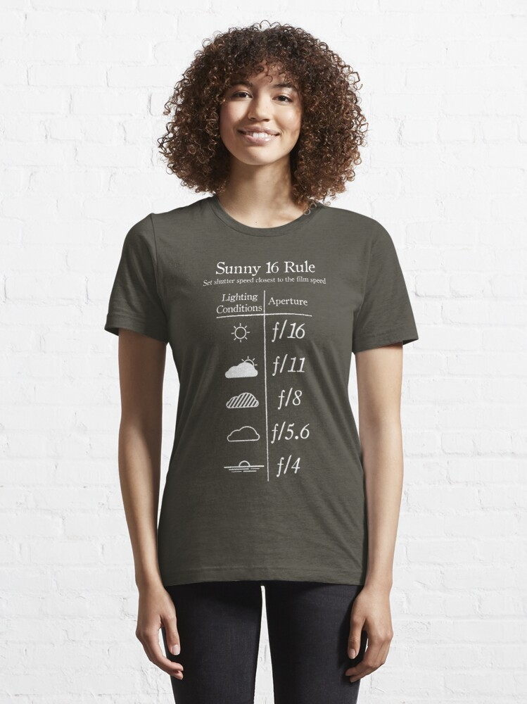 Alternate view of Sunny 16 Rule - White Essential T-Shirt