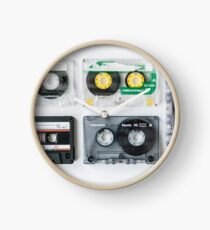 Mix cassette tapes Clock