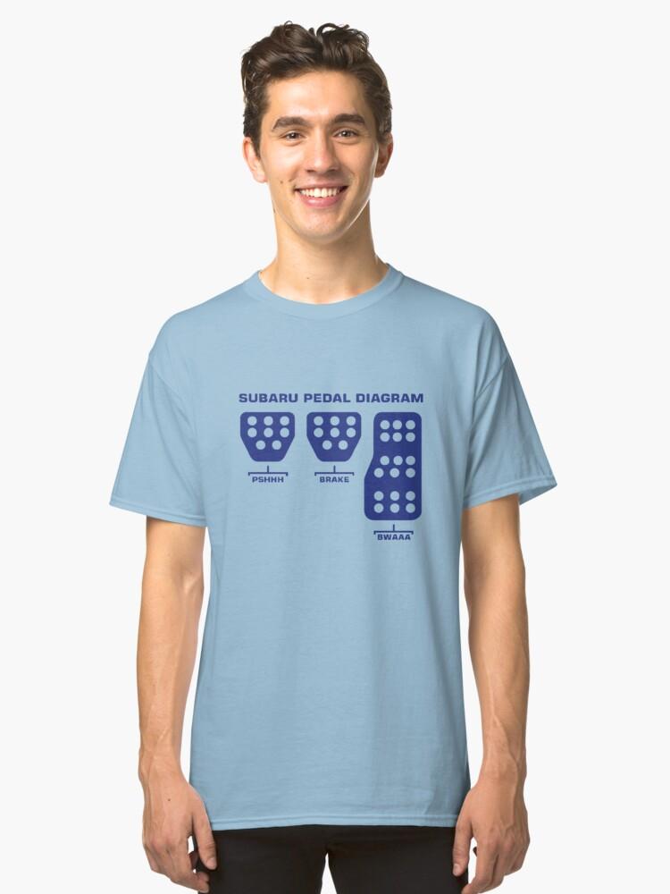 Subaru Pedal Diagram Classic T Shirt By Sobbler Redbubble