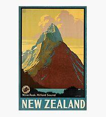 Lámina fotográfica Cartel vintage - Nueva Zelanda