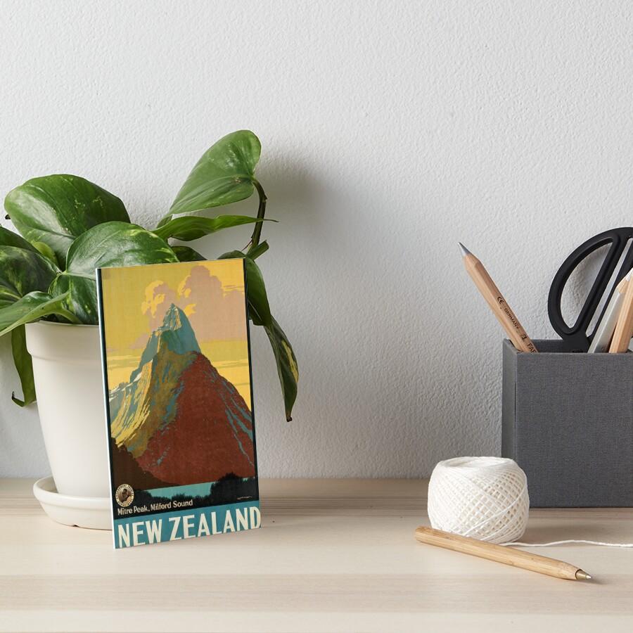 Cartel vintage - Nueva Zelanda Lámina rígida