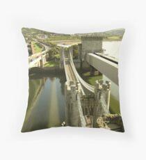 Conwy bridge Throw Pillow