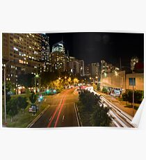 Cityscape From Darling Harbour Pedestrain Bridge Poster