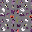 Halloween Grey Pattern by Elizabeth Levesque
