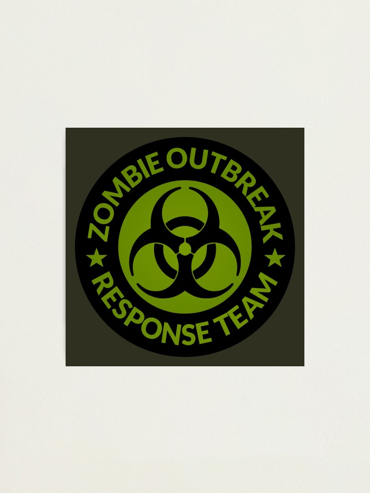 Zombie Outbreak Response Team Vinyl Decal 8in x 8in  Glossy